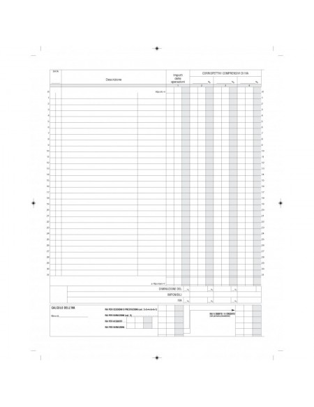 DU1386N0000 REGISTRO IVA CORRISPETTIVI