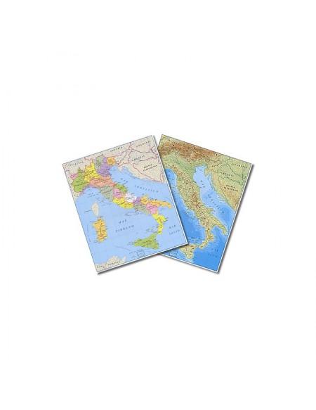 1653,04 CARTINA ITALIA POLITICA-FISICA