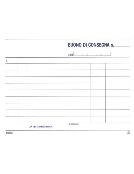 DU161583300 BUONI DI CONSEGNA, BLOC