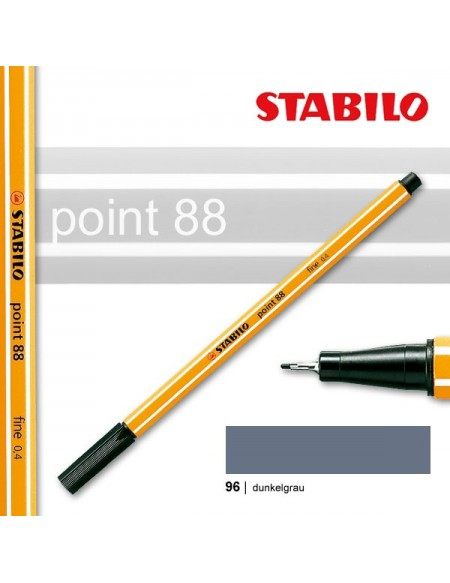 STABILO POINT 88/96 GREY SCURO