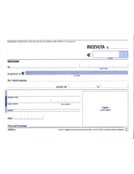 DU162580000 RICEVUTE PAGAMENTO SPOR